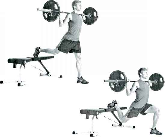 Split Squat With Barbell